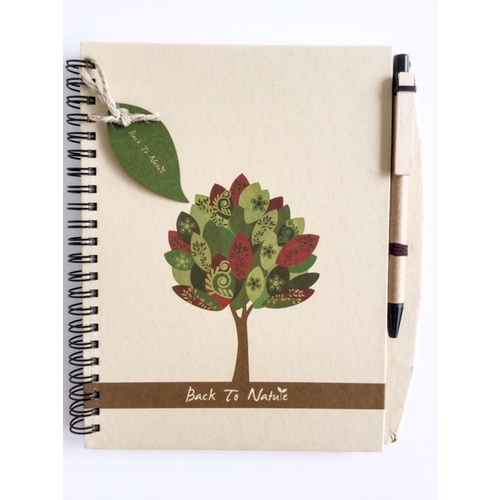 Rustic style A5 Notebook & Pen